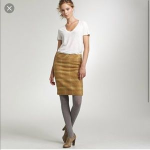 J. Crew Skirts - J.Crew Wool Sunnie Pencil Skirt. Yellow/ Gold
